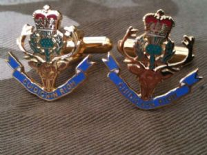 Queens Own Highlanders Regimental Military Cufflinks